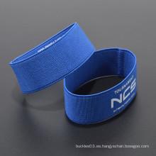 Logotipo personalizado barato 100% poliester wristband elástico