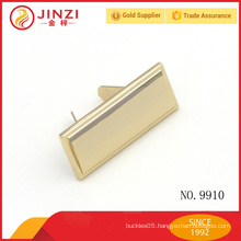 Plain Style Blank Name Plate, Plain Style Zinc alloy Metal label