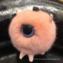 Llavero de alta calidad de la bola de soplo de la piel del visión
