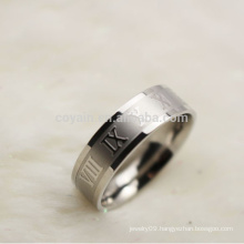 Cheap Wholesale Two Tone Men Stainless Steel Roman Numerals Ring