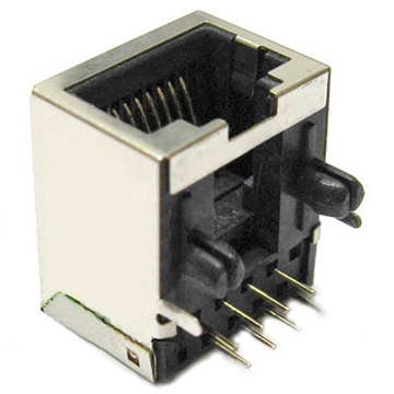 CAT6 RJ45 Jack Side Entry Shielded W / O EMI