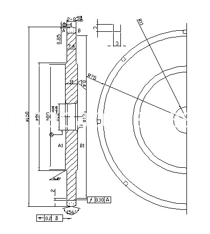 diamond wheelQKA150X22X2-8