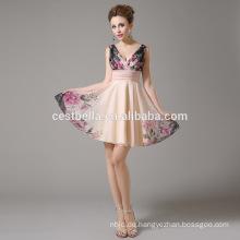 Aprikosen-Cocktailkleider Hübsche Sommer-Art-neue Ankunfts-heißes reizvolles Knie-Längen-Cocktail-Abschlussball-Kleid