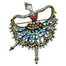 Как продажа красочные горный хрусталь балерина брошь для женщин