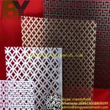 Feuille de métal décorative perforée en aluminium
