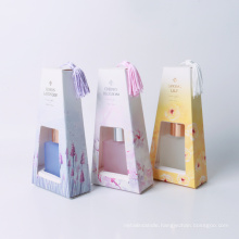 30ml reed diffuser in square glass bottle in box 4 scents for home