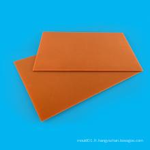 Feuille stratifiée de papier phénolique noir / orange électrique