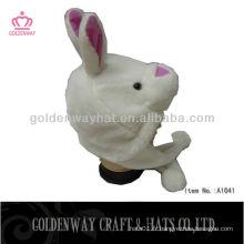 Chapeau de filles de style lapin avec volets d'oreille et pom