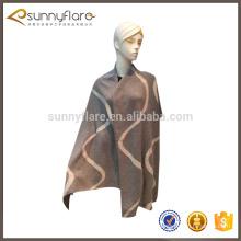 Moda feminina tricotada grande lenço de caxemira
