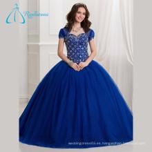 Azul Puffy Ball Gowns Quinceanera Vestidos De Novia Con Chaqueta