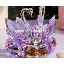 Новый Дизайн - Красивый Фиолетовый Кристалл Лебедь Музыкальная Шкатулка Для Свадебных Сувениров Подарок 2015