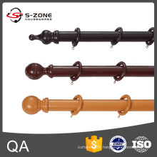 35 mm diameter wooden decorative curtain rods and accessories