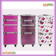 Fashion Outlook Aluminum Hair and Beauty Trolley Makeup Case (SATCMC025)