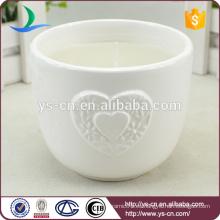 Sujetador de vela de boda de cerámica blanca