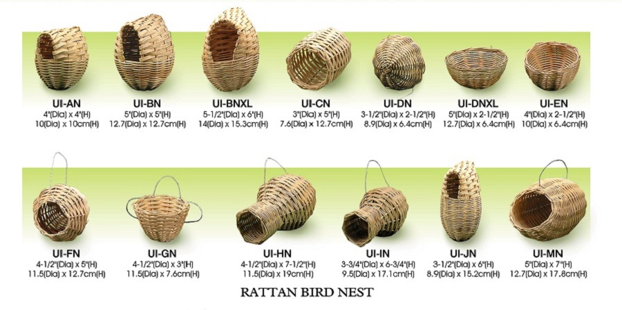 Handmade Rattan bird nest all