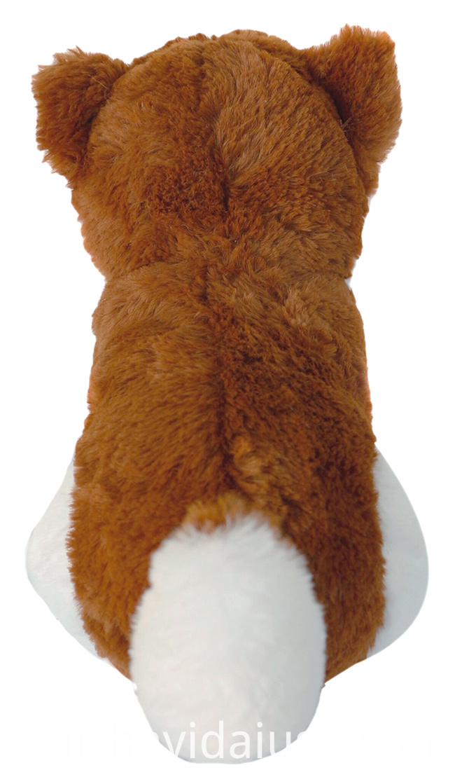 brown soft dog toy