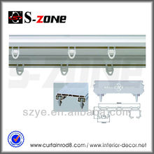 SC12 double Ceiling Mounted ceiling rail for curtains accessories