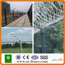 chaîne lien diamant clôture temporaire