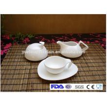 Экологичный дешевый набор посуды из белого фарфорового чая