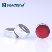 HPLC / GC 2ml Crimp-Aluminiumkappe PTFE / Silikon-Septa