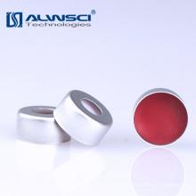 HPLC / GC 2ml crimp cap de alumínio PTFE / septo de silicone