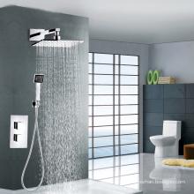 Mezclador de ducha termostática de latón de alta calidad con ducha cuadrada
