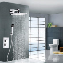 High quality brass thermostatic shower mixer set with square shower head