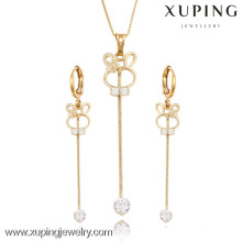 63739 Xuping new fashion cute design gold plated drop pendant and earring