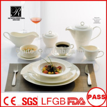 Platos de calidad duraderos al por mayor de alta calidad vajilla de alta calidad establece para el restaurante banquete