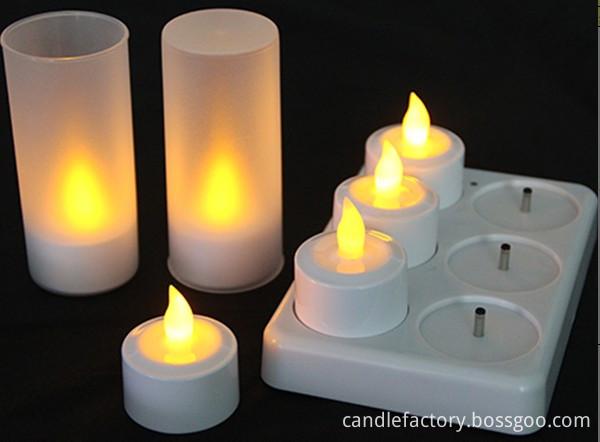 set of 6 led tealight candles
