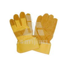 Luva de segurança de trabalho de gradiente de couro amarelo a / Ab / Bc