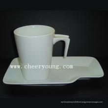 Keramik-Tasse und Untertasse (CY-P518)