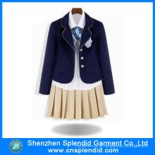 School Uniform Factory Inverno Escola primária Uniform Design