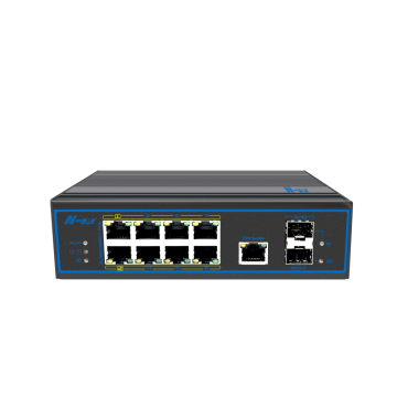 Switch PoE Ethernet gerenciado industrial de 10 portas gigabit total