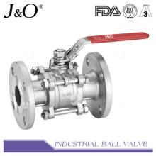 Válvula de esfera de extremidade flangeada 3PC ASME 300 lbs