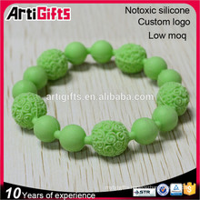 Free samples new products fashion silicone bead wrist bands
