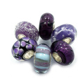 Murano Glass Charms with 925 Sterling Silver Core