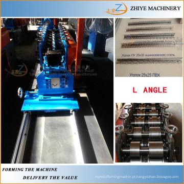 Aço L ângulo frio formando máquinas / metal parede canto perfis fazendo máquina