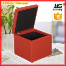 Low price folding storage adjustable ottoman