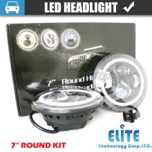 7 Polegada Carro Luzes LED CE IP67 Aprovado Rodada LEVOU Projetor Farol com DRL e Sinal de Volta para Jeep Wrangler JK