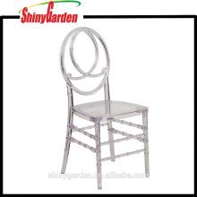 Elegance Crystal Ice Resin PP Plastic Phoenix Chair (KD)