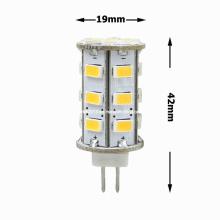Nouvelle ampoule LED 12V DC 5W G4 24 5730 SMD