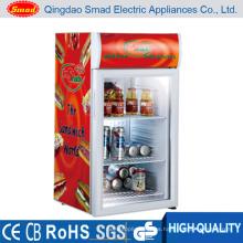 Refrigerador de puerta de vidrio Refrigerador de bebidas compacto Mini refrigerador Nuevo