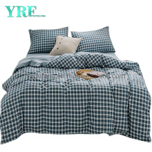 Condo Cotton Fabric Bed Sheet Set Fashion Style Simple Style Plaid Multi Color