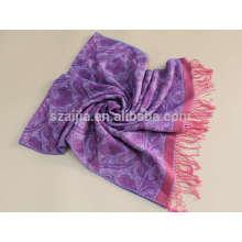 Fashion faux cashmere women winter Jacquard scarf