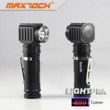Maxtoch LIGHTPEA 18650 Waterproof LED Angle Flashlight With Clip