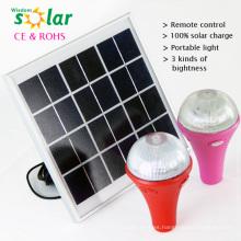 CE y patente portátil solar powered luces interiores de superventas de China