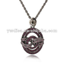 Newest 2013 Crystal Inlayed Alloy Necklace Small MOQ