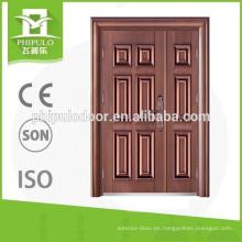 Puerta de acero de cobre imitación cobre de gran tamaño con diseño de lujo