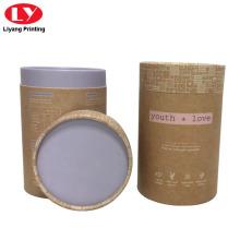 Boîte à thé ronde en papier kraft